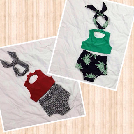 kids★high-waist swim wear