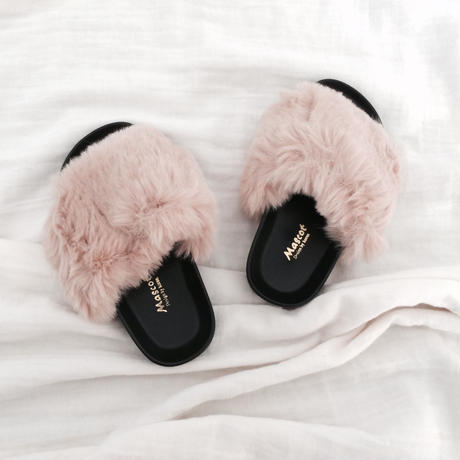 kids★high quality  volume fur  sandal