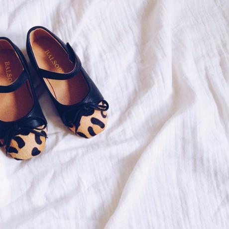 kids★leopard ハラコ shoes