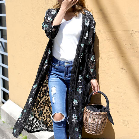 ladies lace gown cardigan