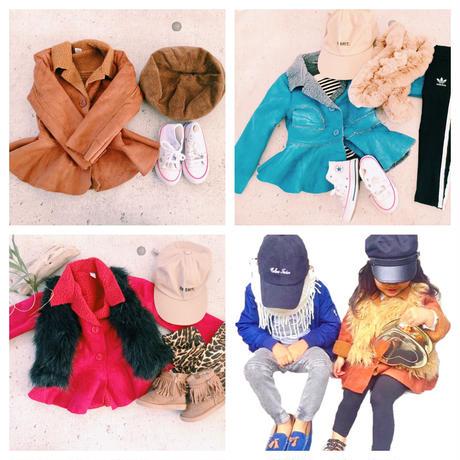 kids★peplum mouton coat