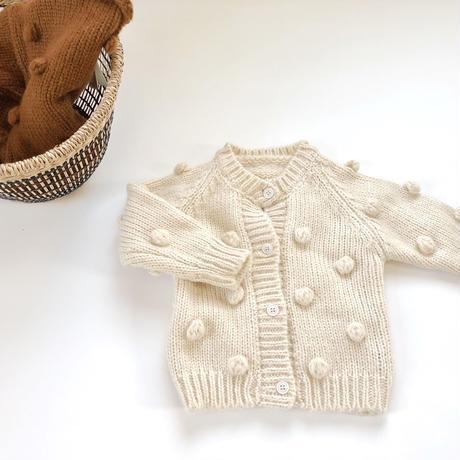 kids★pompon knit cardigan