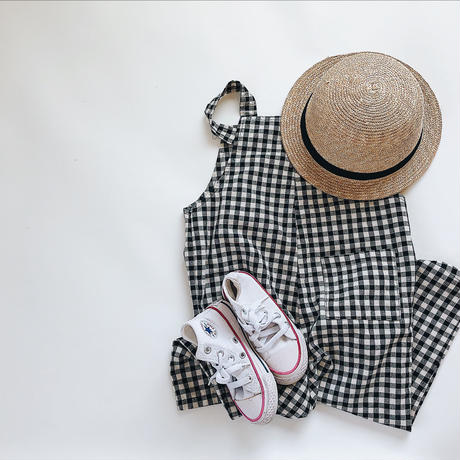 kids★gingham check  salopette