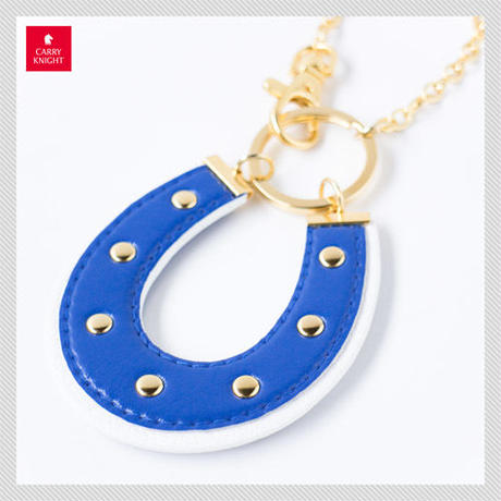 HORSESHOE CHARM 【blue×white】