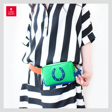 HORSESHOE CASE〈Green × Navy〉