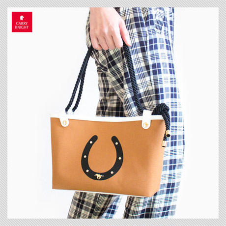HORSESHOE TOTE BAG〈 Brown 〉