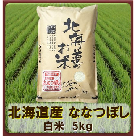 平成30年 北海道産 ななつぼし  白米  5kg