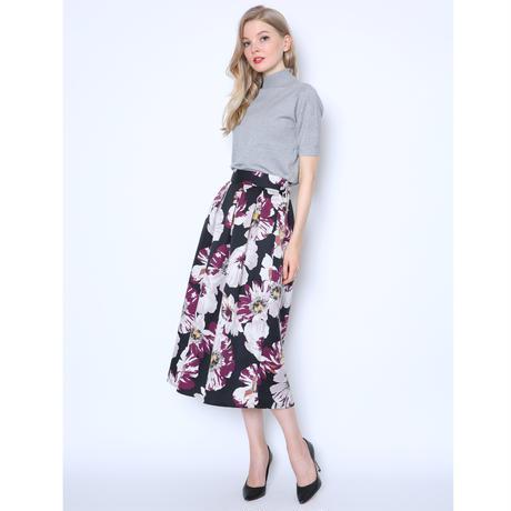 花柄タックフレアースカート(CA40)