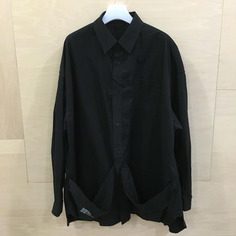 Fresh Service / FW 19 SH 04 / Tool Pocket Regular Collar Utility Shirt (BLACK)