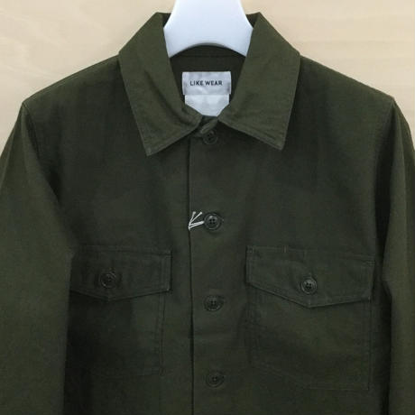 YAECA / 71103 / LIKE WEAR ベイカーシャツ (OLIVE SATIN)