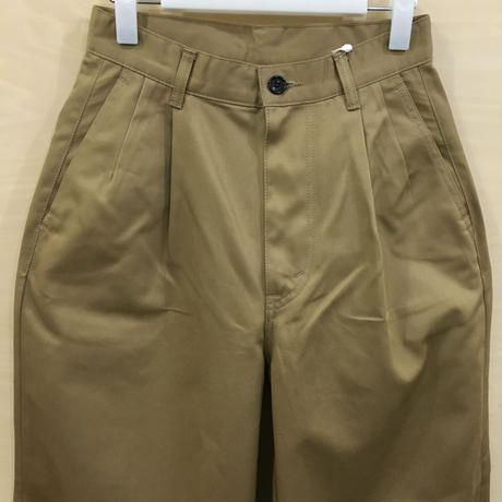 Graphpaper  / GU191 40048B / Chino Two Tuck Pants (BEIGE)