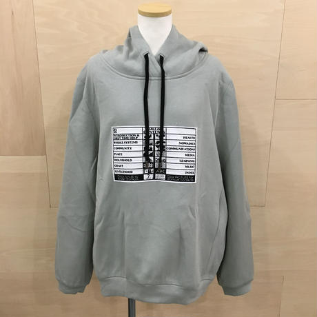 FFIXXED STUDIOS / AW19 MCAS01 / HOOD WITH EMBROIDERY (LIGHT MINT)