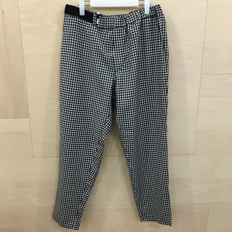 Graphpaper / GM193 40095 / Marzotto Gingham Cook Pants (WHIT CH)