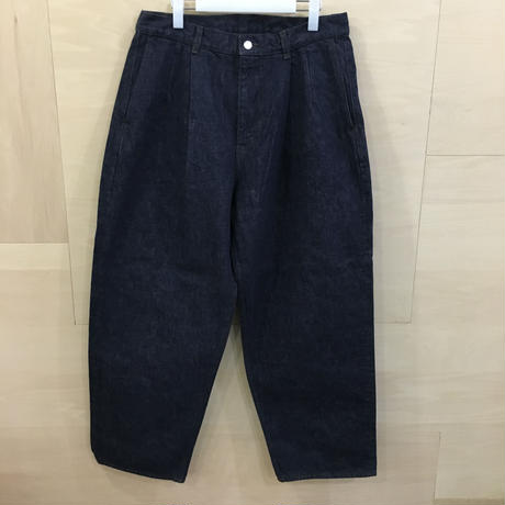 Graphpaper / GU193 40057B / Colorfast Denim 2 Tuck Pants (DENIM)