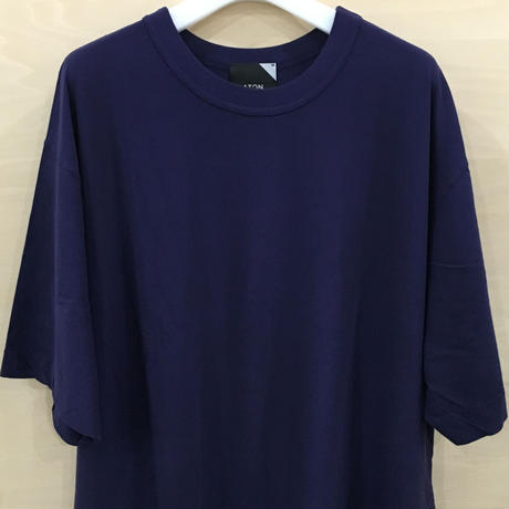 ATON / FRESCA LONG SLIT T SHIRT (PURPLE)