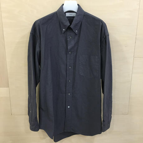 Graphpaper / GM191 50009B / Oxford L/S B.D Box Shirt (GRAY)