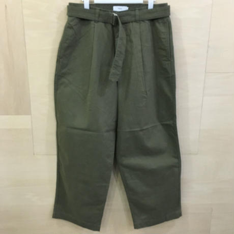 Graphpaper / GU193 40064B / Military Cloth Belted Pants (KHAKI)