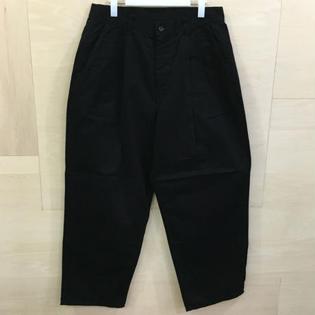 Graphpaper / GU193 40063B / Military Cloth 2 Tuck Pants (BLACK)