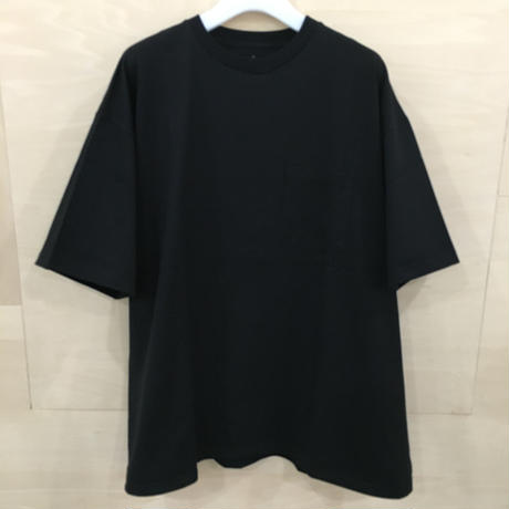 Graphpaper / GM201 70629B / Jersey Oversized S/S Pocket Tee (BLACK)