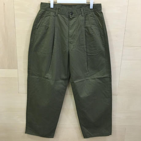 Graphpaper / GU193 40063B / Military Cloth 2 Tuck Pants (KHAKI)
