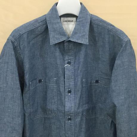 YAECA / 21101 / LIKE WEAR シャンブレーシャツ (INDIGO)