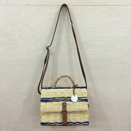 TOINO ABEL / FLAP BAG (XS) (BLUE)