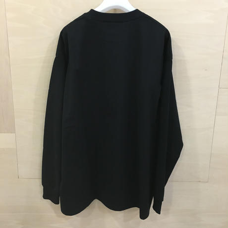 Graphpaper / GM191 70100B / Jersey Oversized L/S Pocket Tee (BLACK)