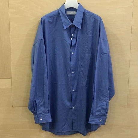 Graphpaper / GM193 50107B / Broad Reguler Collar Oversized Shirt (BLUE)