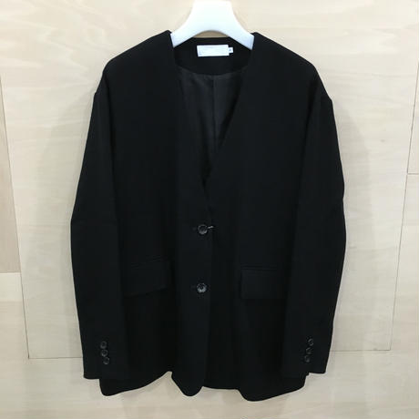 Graphpaper / GL193 20014 / Herringbone Non Collar Jacket (BLACK)