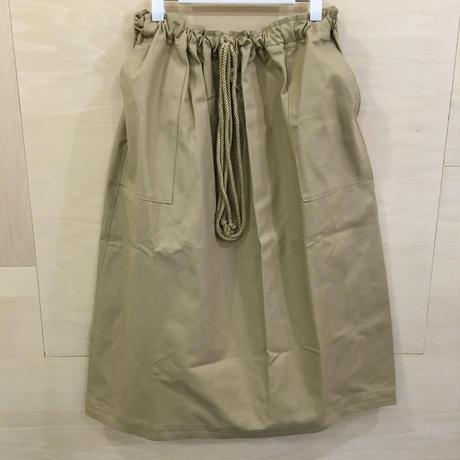 Kaiki / KA92FS001 / チノ ワイドベイカーコクーンスカート (BEIGE)