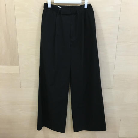Graphpaper / GL192 40536 / COTTON TWILL Wide Tuck Cook Pants (BLACK)