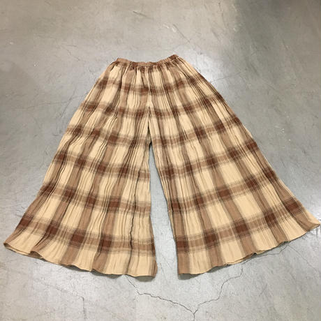 Graphpaper / GL193 40032 / Check Pleats Pants (BROWN CH)