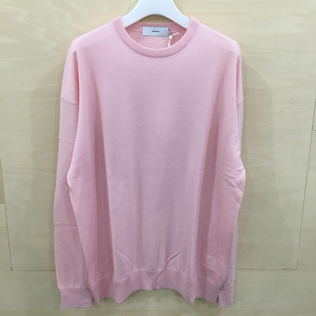 Graphpaper / GU193 80080B / High Gauge Knit Crew Neck Tee (PINK)