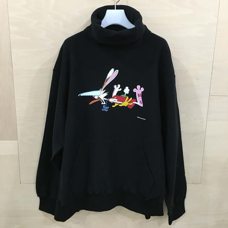 FACETASM / PIPPA SW U05 / ROGER RABBIT NECK SWEAT SHIRT (BLACK)