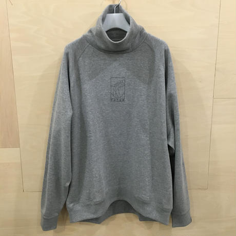 Graphpaper / GM194 70703 / LOOPWHEELER for FUTUR x Graphpaper High Neck Sweat (GRAY)