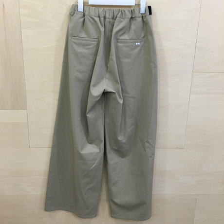 Graphpaper / GL192 40536 / COTTON TWILL Wide Tuck Cook Pants (BEIGE)