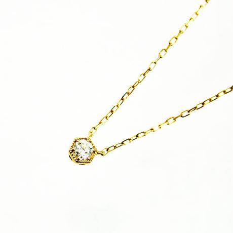 K10/【KIKKO DIAMOND / 亀甲ダイヤモンド】ダイヤネックレス(S)0.08ct (N10072Y-S)