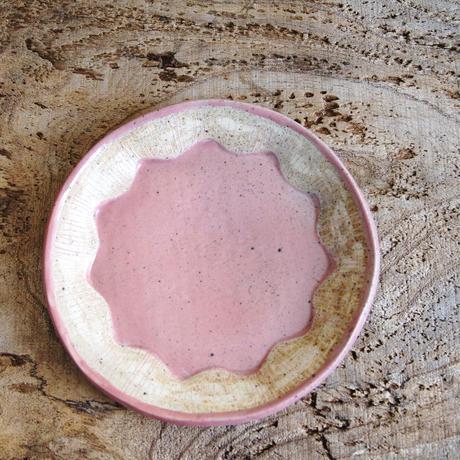 花形プレート ピンク