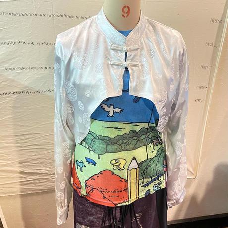 変形チャイナシャツ