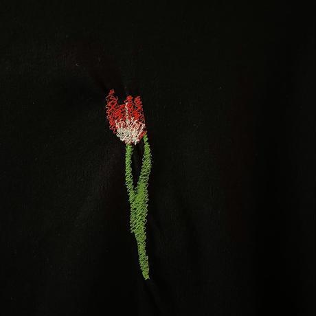 Flower刺繍ビッグシルエットTee