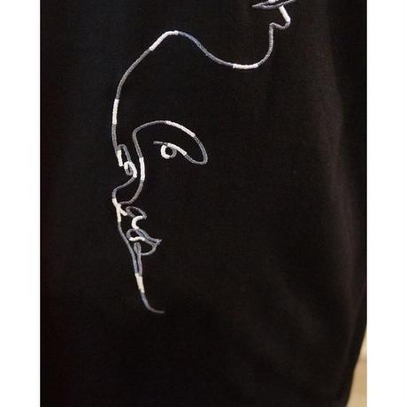 abstract刺繍T