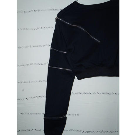 zippers cropped tops