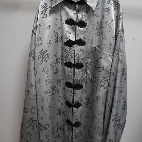 サテンチャイナシャツ(silver)
