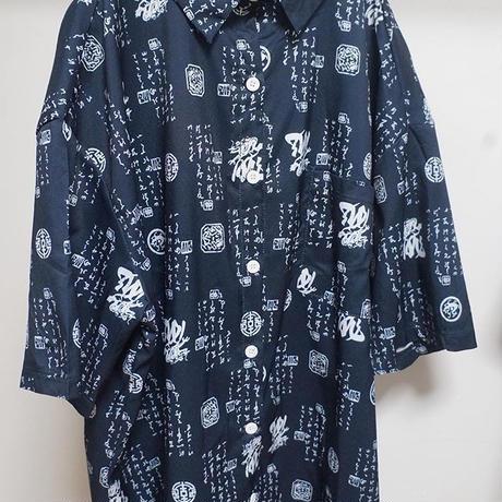 漢字総柄シャツ
