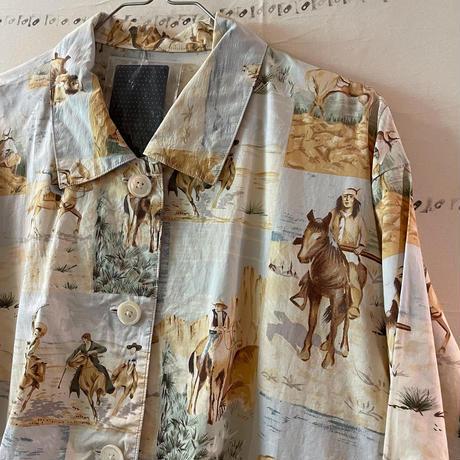 柄合わせまできっちり凝ってて超いい仕事してるusedジャケットシャツ