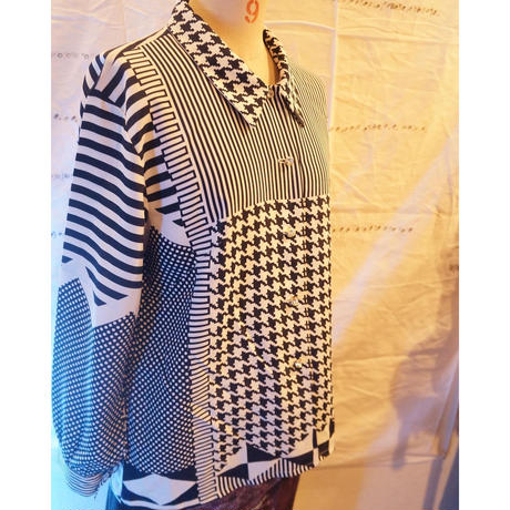 used mix patterns shirt
