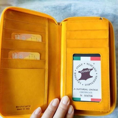 即発送!イタリア製長財布 ビビットカラー!お誕生日プレゼントに!