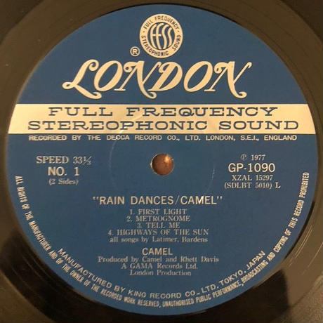 Camel  /  Rain Dances  (LP)  ★帯あり★