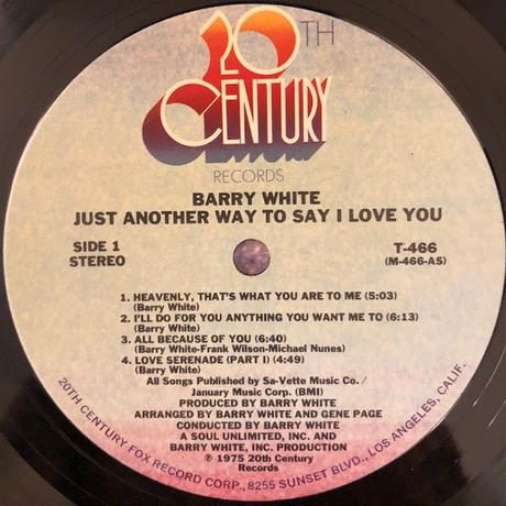 JUST ANOTHER WAY TO SAY I LOVE YOU  /  BARRY WHITE (LP)