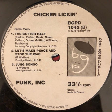 CHICKEN LICKIN'  /  FUNK INC.  (LP)